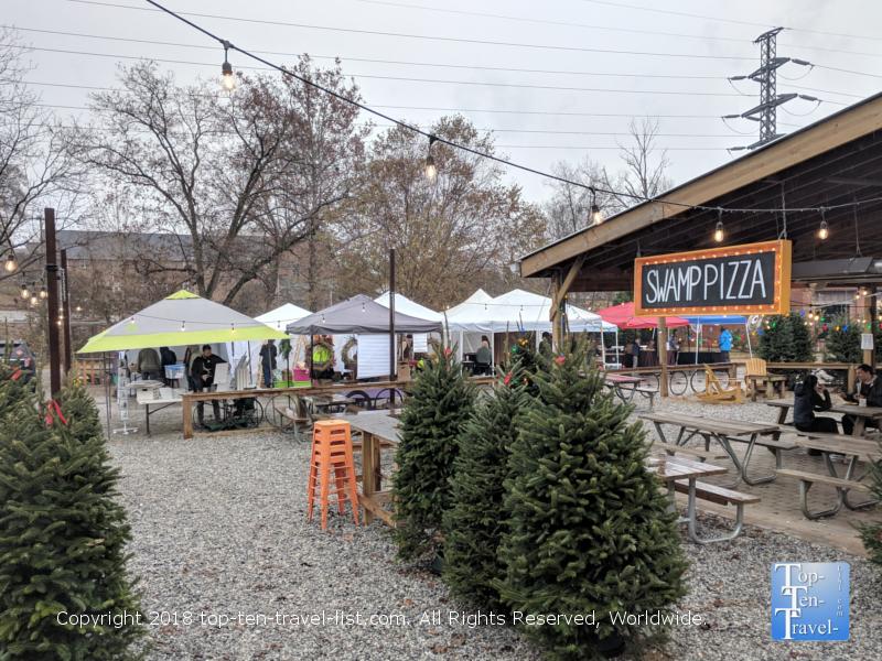 Swamp Rabbit Cafe holiday flea market in Greenville, South Carolina