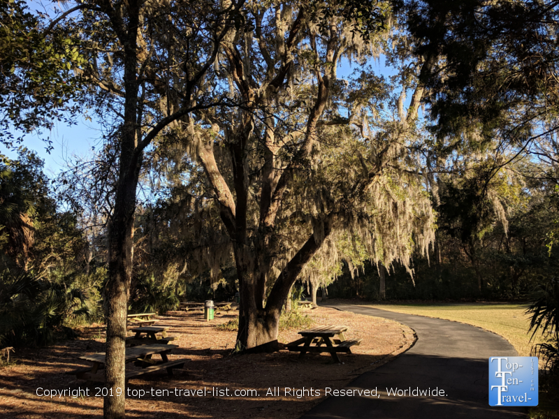 Beautiful bike path at Mt. Pleasant Community Park in South Carolina