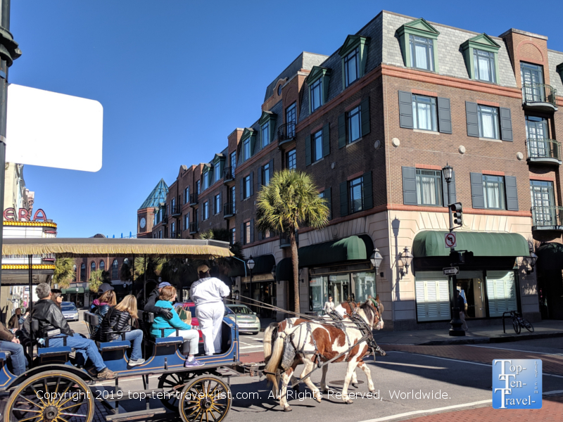 Carriage ride through historic downtown Charleston, South Carolina