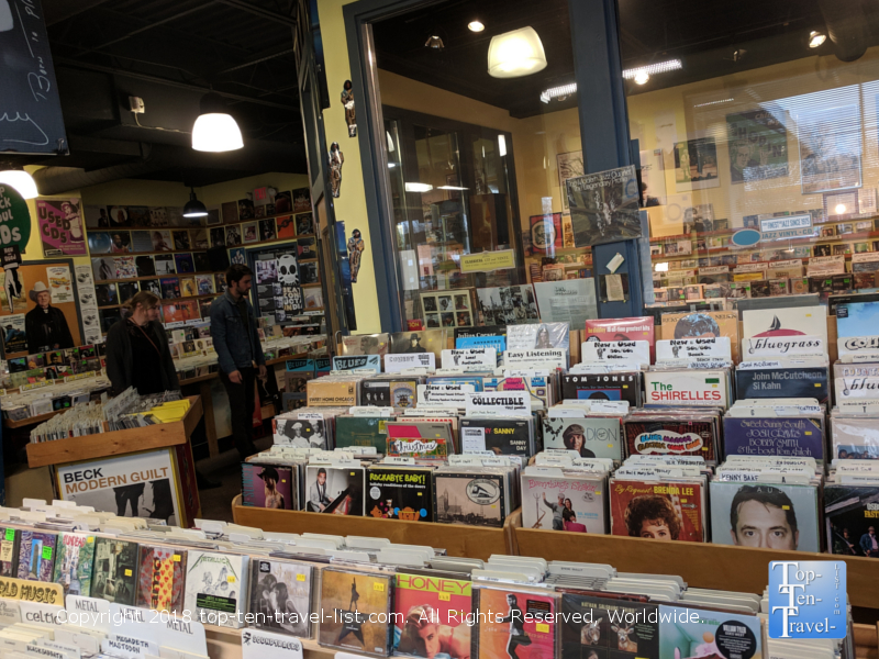 Horizon Records in downtown Greenville, South Carolina