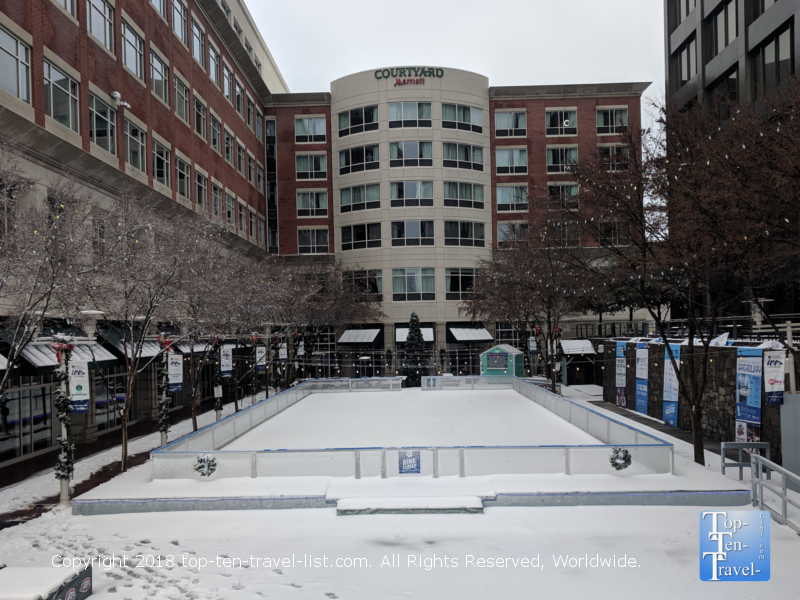 Ice rink in downtown Greenville, South Carolina