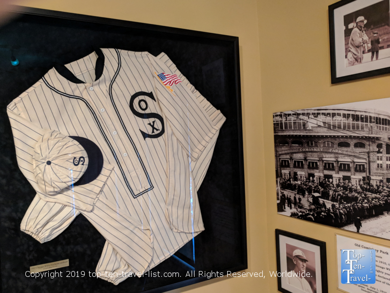 Memorabilia at the Shoeless Joe Jackson museum in Greenville, South Carolina