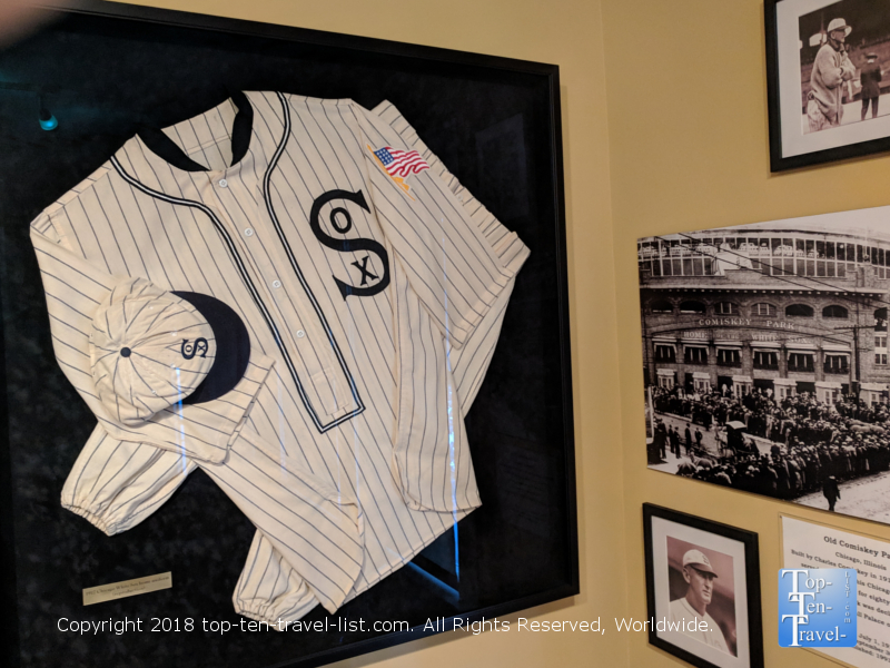 Memorabilia at the Shoeless Joe Jackson museum in Greenville SC