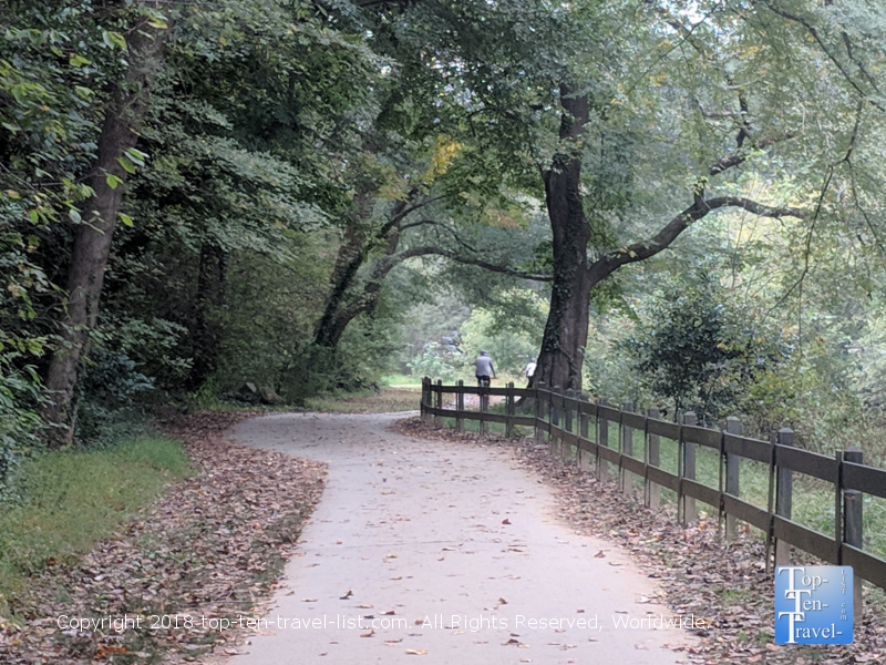Biking the Swamp Rabbit trail in Greenville, South Carolina