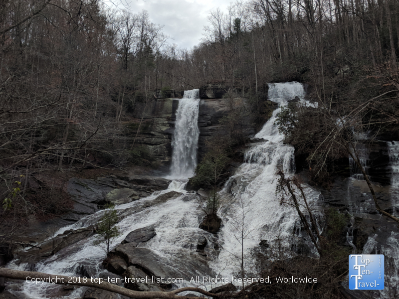Twin Falls waterfall hike near Greenville, South Carolina