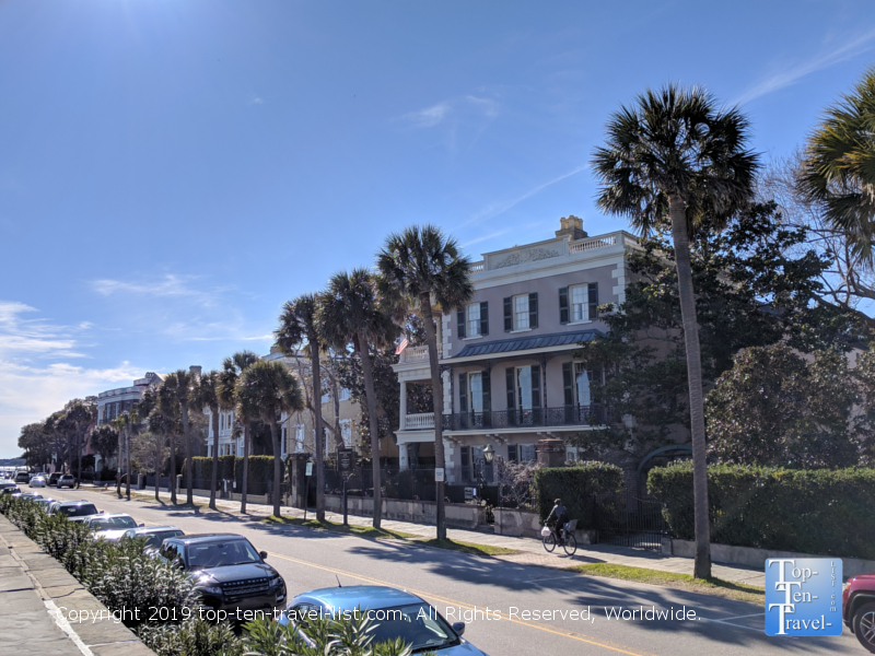 Mansions lining The Battery in downtown Charleston, South Carolina