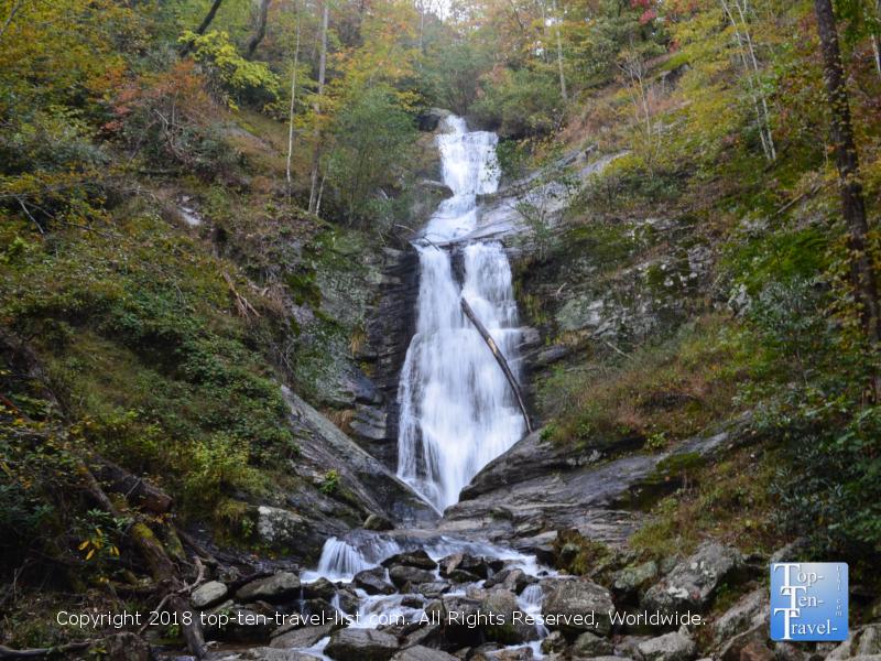 Beautiful Tom's Creek waterfall in Western North Carolina