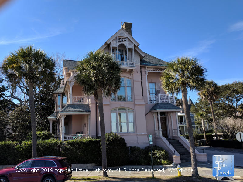 Beautiful mansion at The Battery in downtown Charleston, South Carolina
