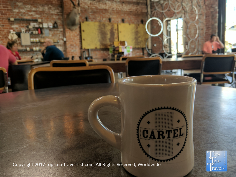 Great coffee at Cartel Coffee Lab in downtown Tucson, Arizona