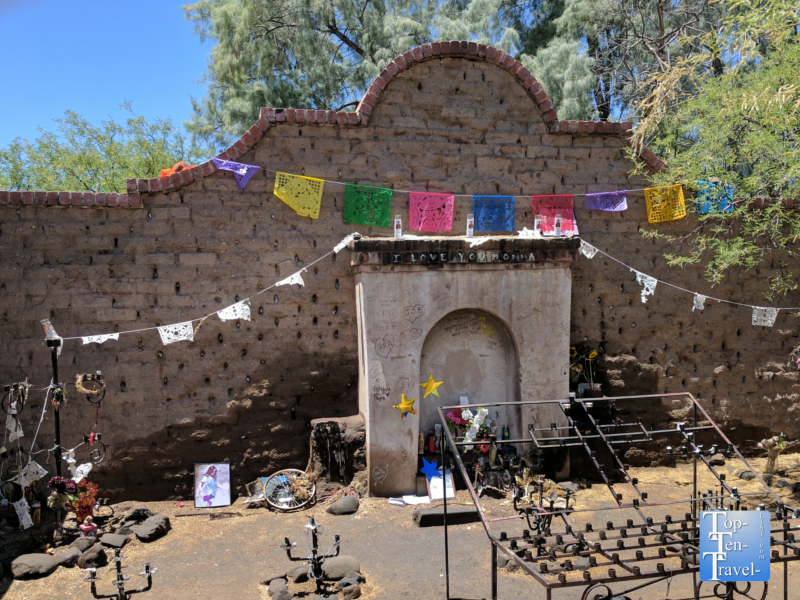 El Tiradito shrine in downtown Tucson, Arizona