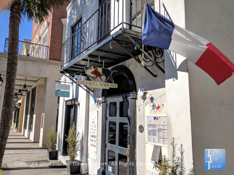 Gaulart & Maliclet French Cafe in downtown Charleston, South Carolina