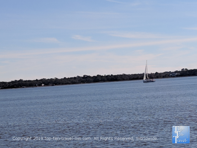 Serene views of the Charleston Harbor