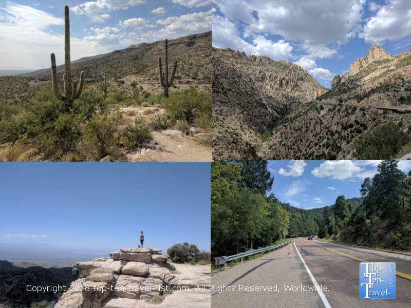 Mt Lemmon Scenic Byway near Tucson Arizona