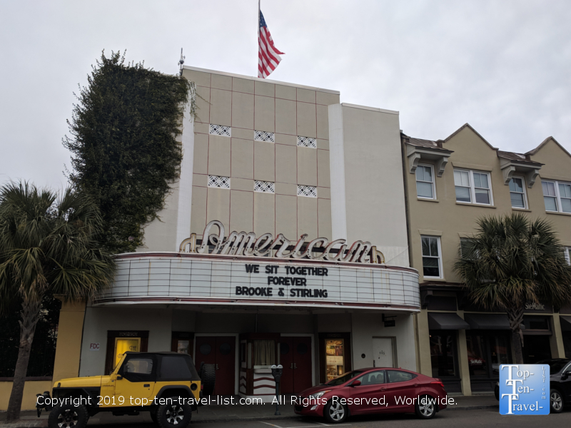 Notebook filming location - The American Theater on King Street in downtown Charleston, South Carolina
