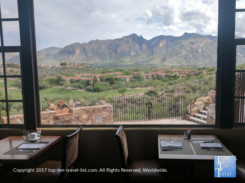 Picturesque dining room at The Grill at Hacienda del Sol in Tucson AZ