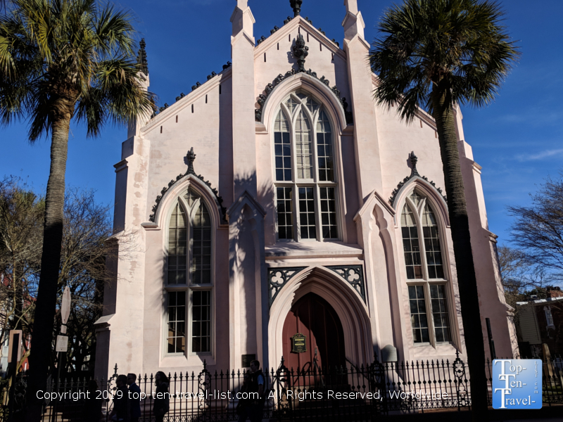 Pretty historic church in downtown Charleston, South Carolina