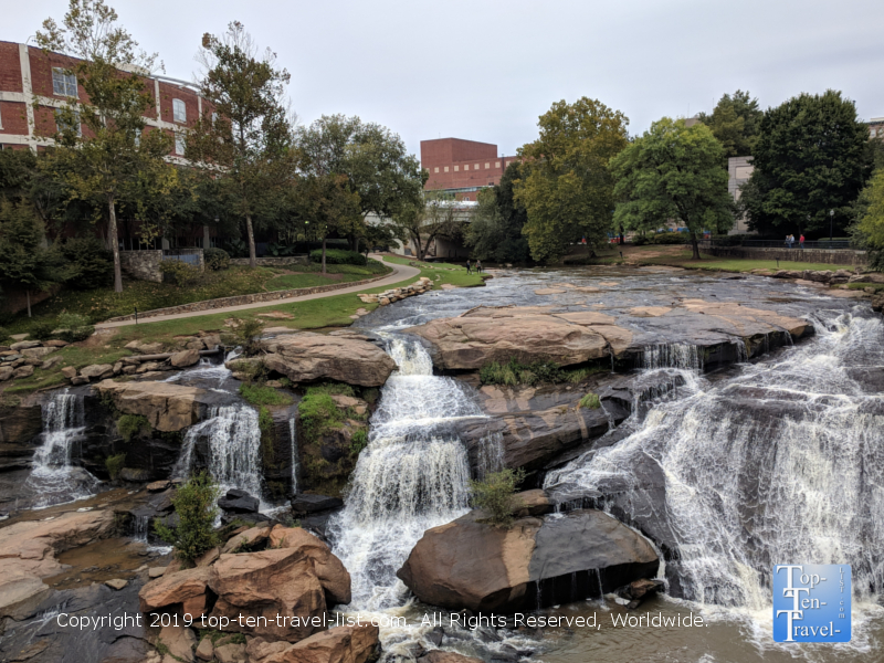 Reedy River falls in downtown Greenville, South Carolina