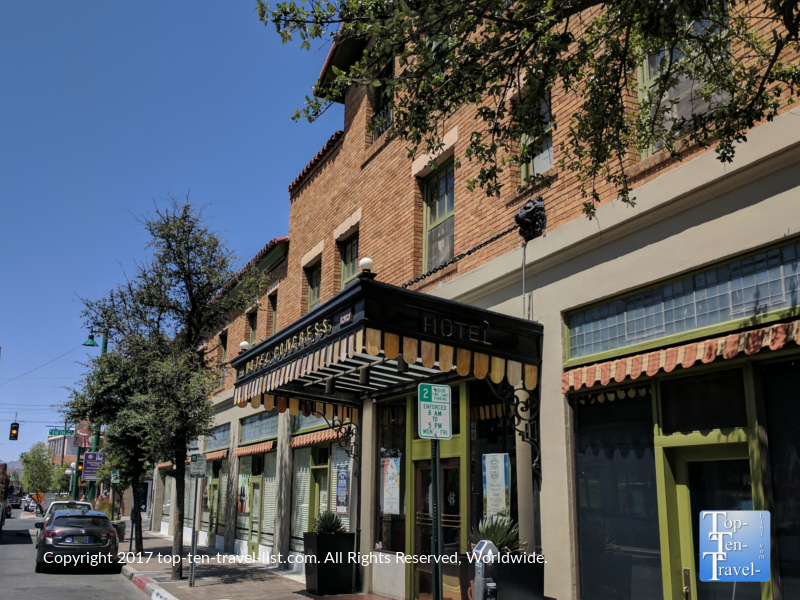 The historic Hotel Congress in downtown Tucson, Arizona