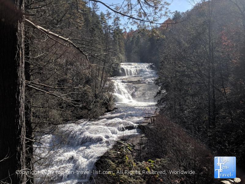 Triple Falls waterfall in Western North Carolina
