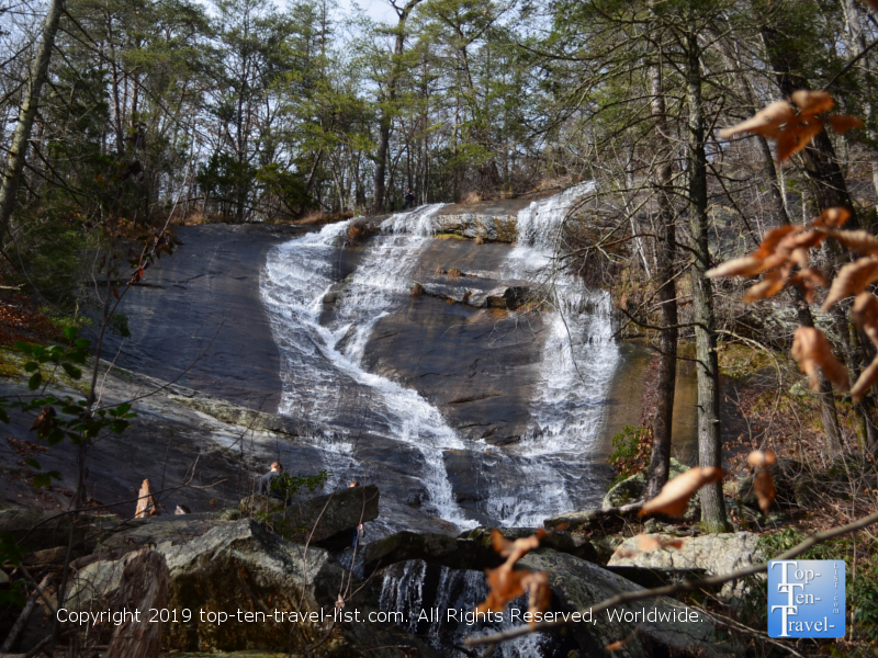 Upper Wildcat Branch falls in Cleveland South Carolina