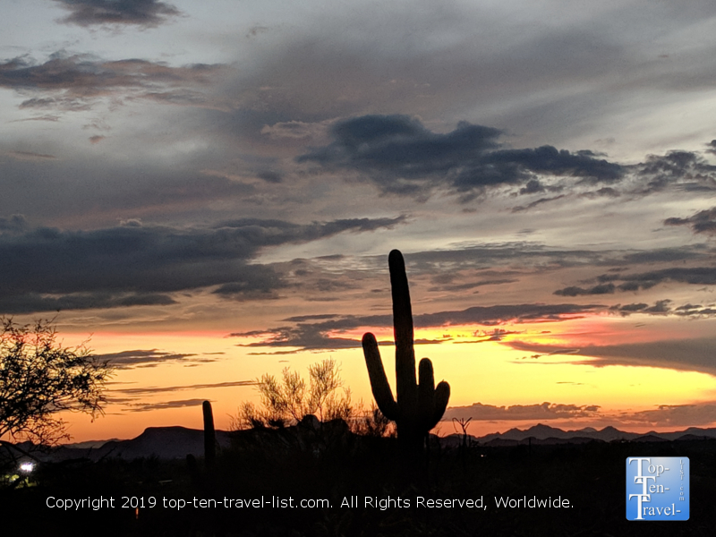 A gorgeous desert sunrise along the Linda Vista trail in Tucson, Arizona