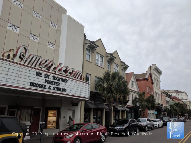 American theater Notebook filming location in downtown Charleston, SC