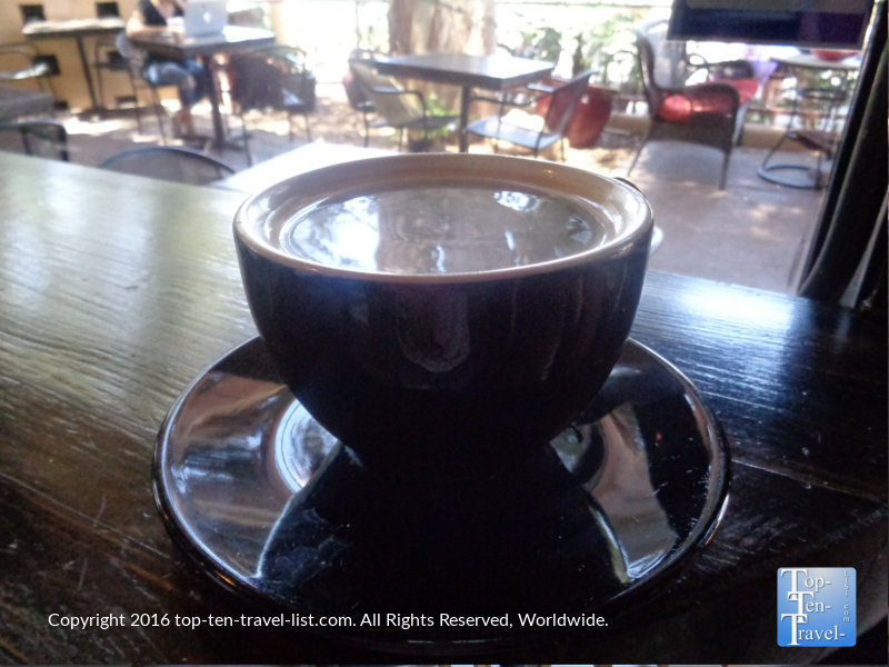Americano at Altitudes Coffee Lab in Scottsdale, Arizona