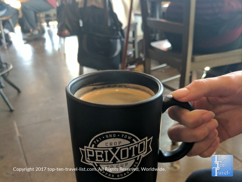 Americano at Peixoto Coffee in Chandler, Arizona