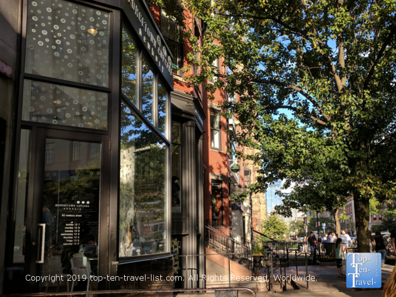 Thinking Cup Coffee on Newbury Street in downtown Boston