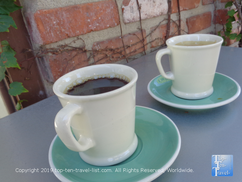 Delicious coffee at Alfred Coffee in Los Angeles