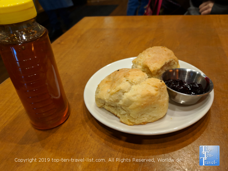 Fresh biscuits at Tupelo Honey in downtown Greenville SC