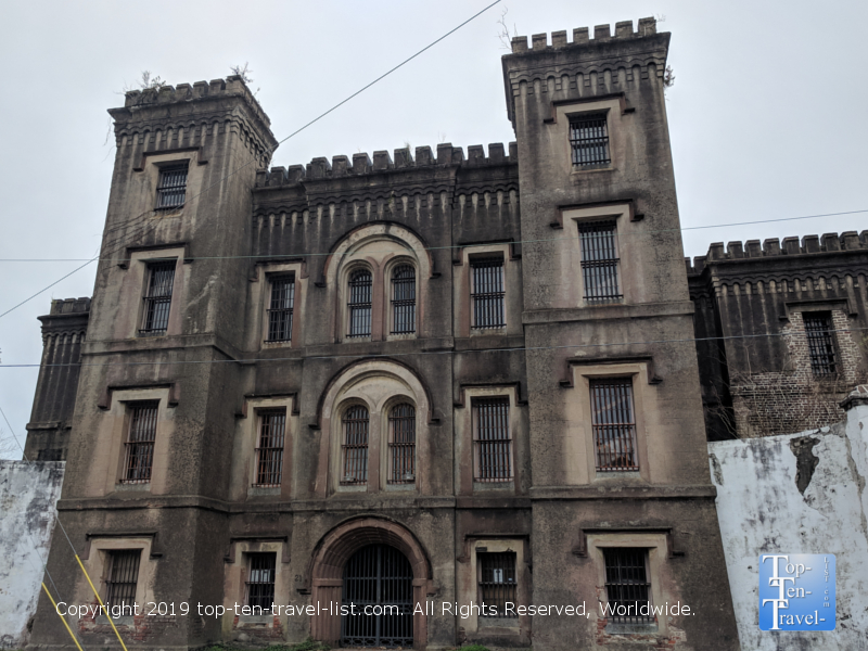 Historic haunted jail in downtown Charleston, SC