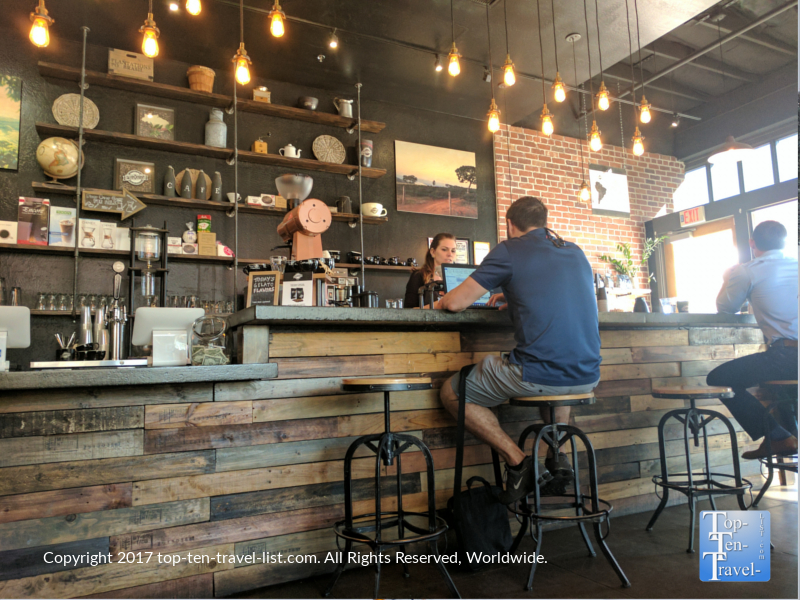 Interior of Peixoto Coffee in Chandler. Arizona