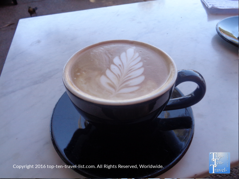 Mocha at Altitudes Coffee Lab in Scottsdale, Arizona