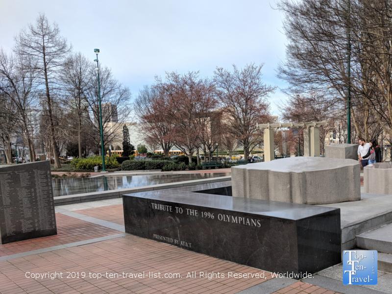 Olympian tribute at Centennial Olympic Park in Atlanta, GA