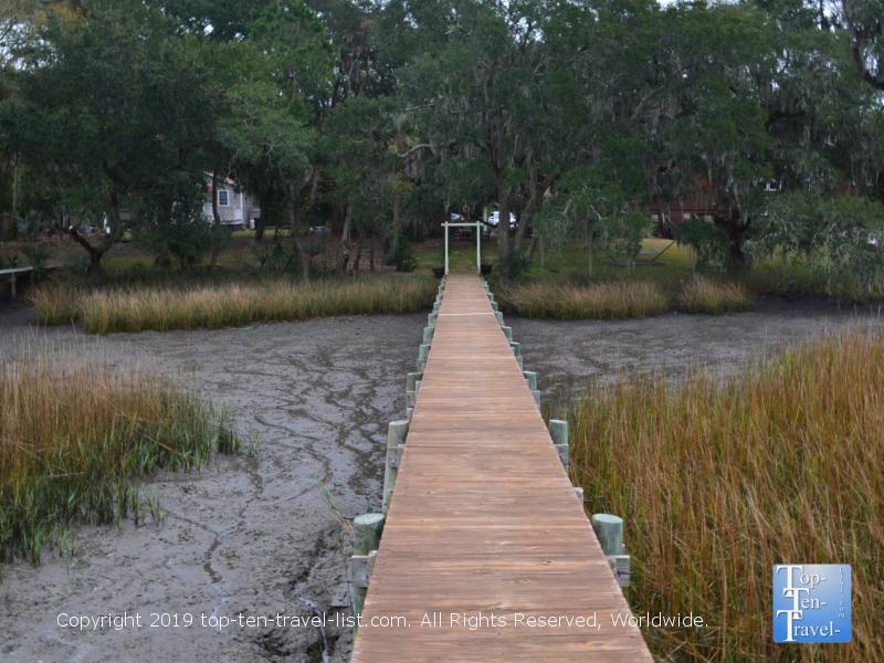 Pretty tidal marsh scenery at the Plantation Oaks Inn in Mt Pleasant, South Carolina