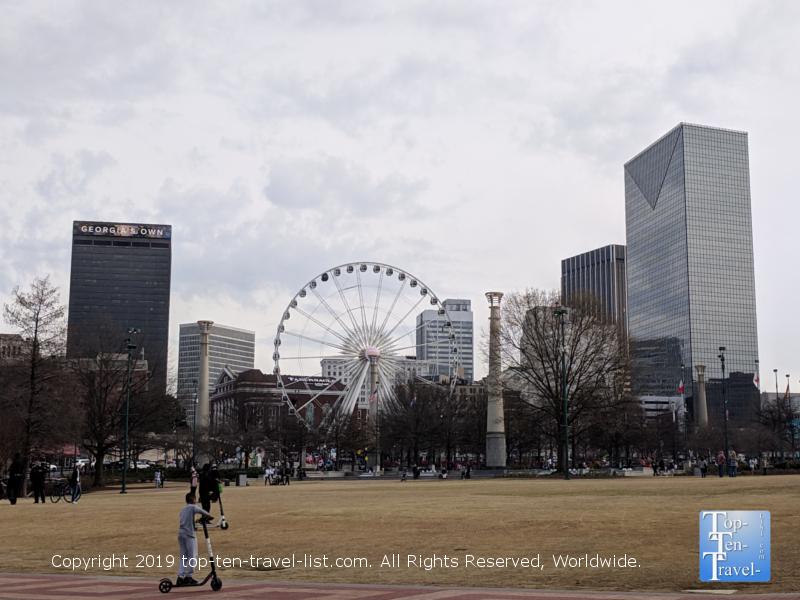 Pretty views from Centennial Olympic Park in Atlanta, GA