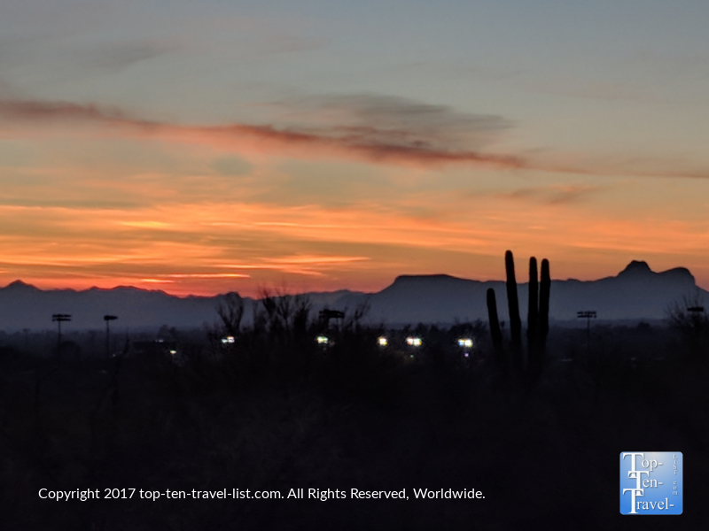 Enjoying a gorgeous sunset via the Linda Vista trail in Oro Valley, Arizona