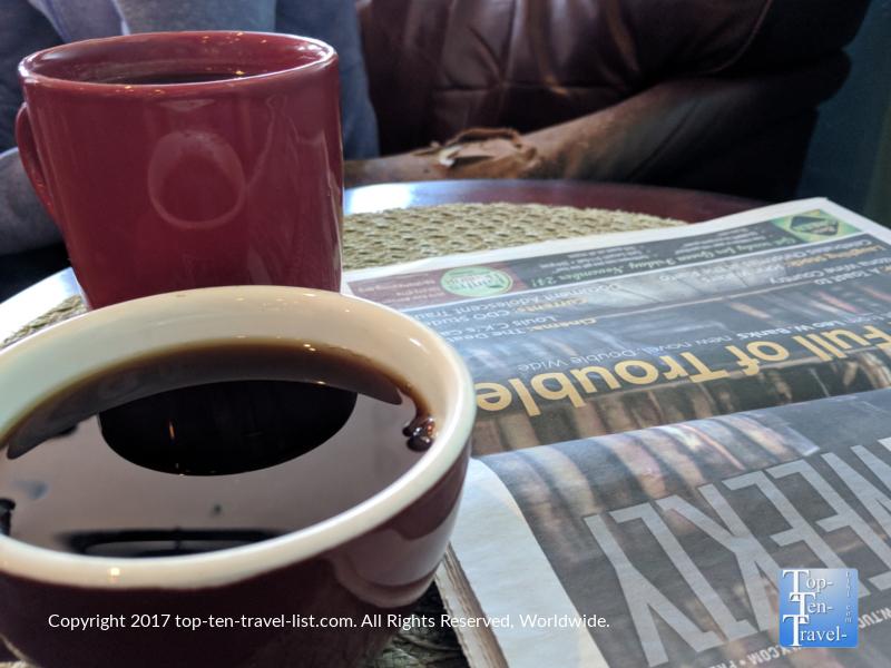 Tasty coffee at Roadrunner Coffee in Tucson, AZ