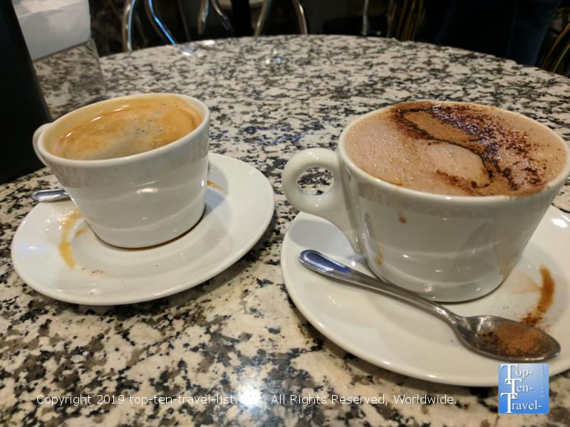 The best espresso at Caffe Vittoria in downtown Boston