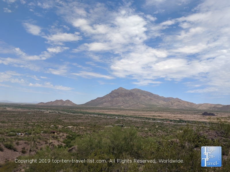 Tremendous overlook of the mountains at Picacho Peak State Park in Arizona