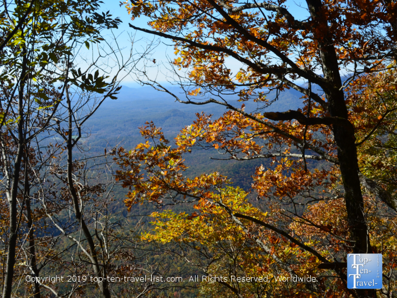 Views from the Caesars Head overlook during the autumn season
