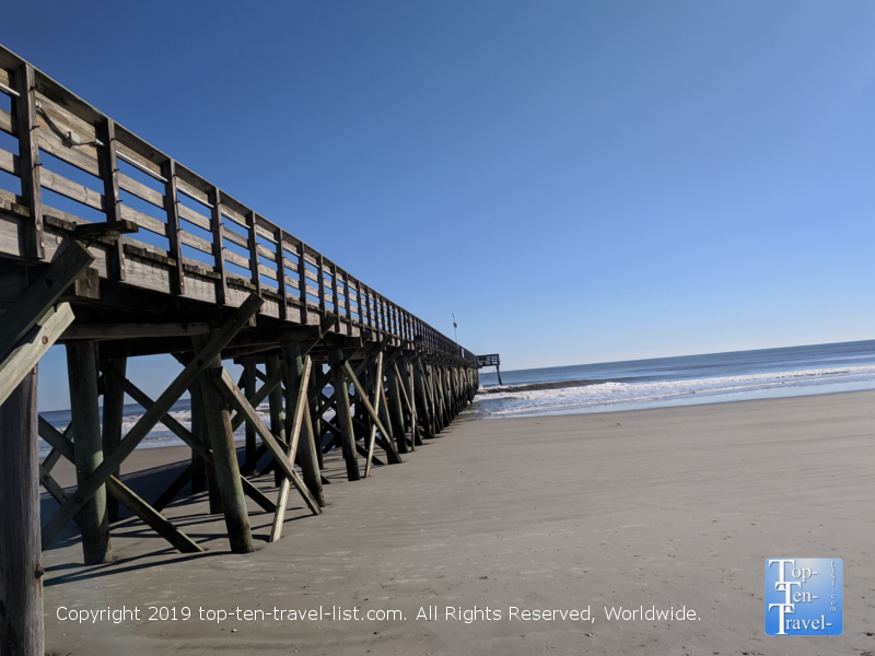 The pier at Isle of Palms beach in South Carolina
