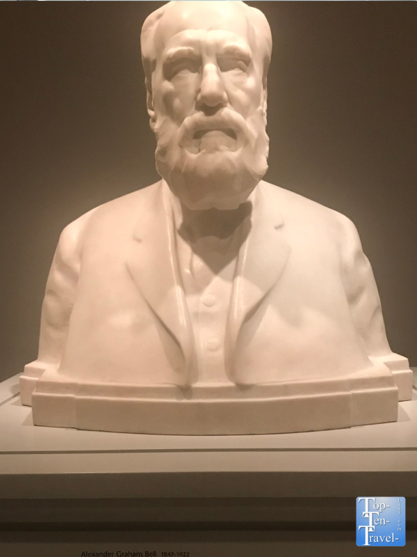 Bust of Alexander Graham Bell at the Smithsonian Portrait Gallery in DC