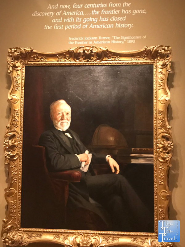 Andrew Carnegie portrait at the Smithsonian Portrait Gallery in DC
