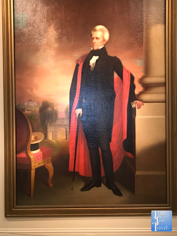 Andrew Jackson painting at the Smithsonian Portrait Gallery in DC