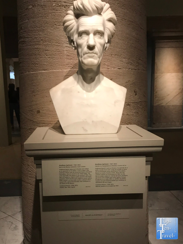 Bust of Andrew Jackson at the Smithsonian Portrait Gallery in DC