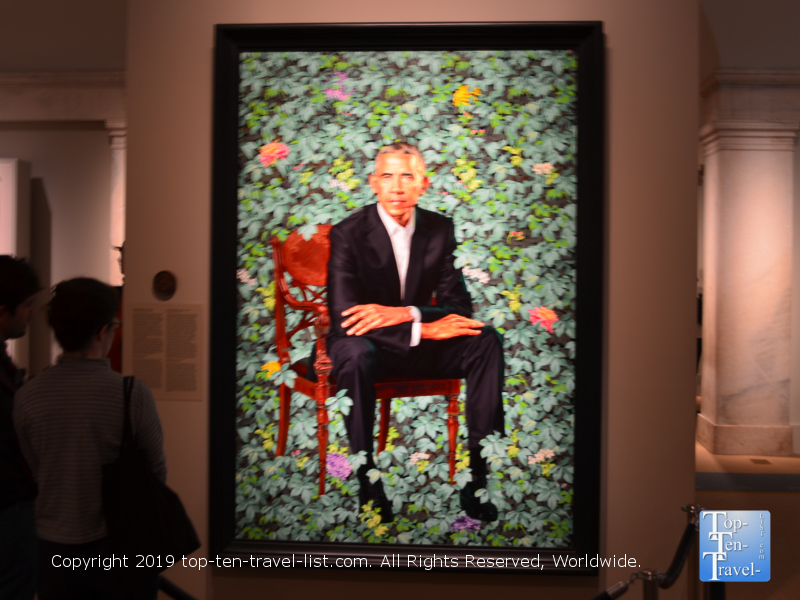 President Obama portrait at the Smithsonian Portrait Gallery in DC