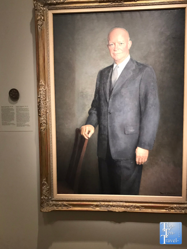 Dwight D. Eisenhower portrait at the Smithsonian Portrait Gallery in DC