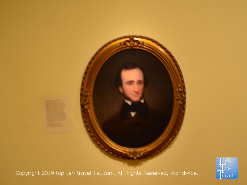 Portrait of Edgar Allan Poe at the Smithsonian Portrait Gallery in DC